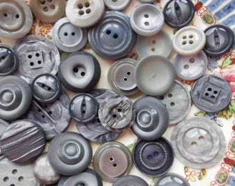 Grey vintage buttons