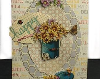 Happy Birthday Greetings, Homemade Birthday Cards, Birthday Cards for Her, Happy Birthday Cards for Her, Daughter Birthday Card