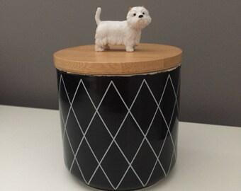West highland terrier treat Jar, dog treat jar, lolly jar, dogs treat jar, jars, lolly jar, westie dog treat jar, glass jar, canister jar,