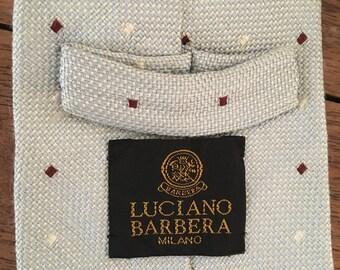 80s Designer Necktie // Vintage Luciano Barbera // Made in Italy
