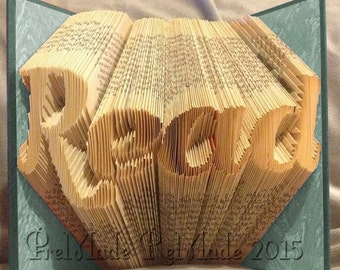 Read - Folded Book Art