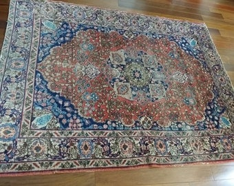 "61"" by 73"" 1910  Tabriz Gorgeous!! Free shipping!!!"