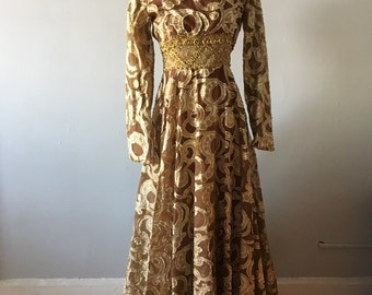 1960s Gold Gown