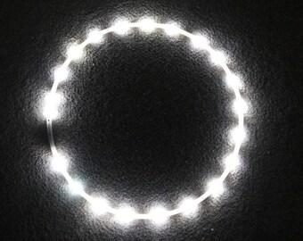 Daisy white LED Polypro Hula Hoop