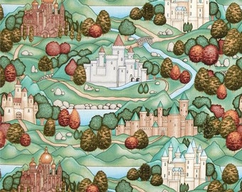 Enchanted Kingdom Cotton Fabric Designed by Dan Morris for RJR  by the Yard