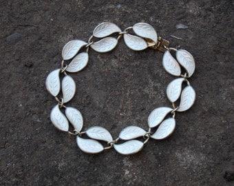 Silver & Enamel Leaf Bracelet David Anderson Norway