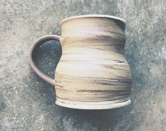 Tri-Marbled Clay Bubble Stein