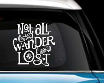 Not All Who Wander Are Lost - Decal - Car Decal - Yeti Decal - Laptop Decal - Vinyl Decal