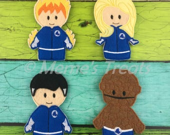 Set of 4 Finger Puppets - Inspired by Fantastic Four movie