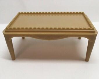 Plasco Coffee Table-vintage Dollhouse Furniture 1:16