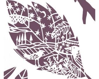 Little Hornbeam Leaf - Little Leaf Series - Woodland - Art Print - Home decor - Nature