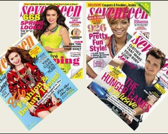 4 Miniature   'SEVENTEEN'   Magazines  -  Dollhouse 1/6  1/12    1/24   1/48   scale miniature