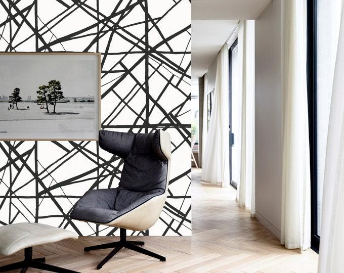 Black stripes wallpaper, Inspired Harlequin Sumi wallpaper