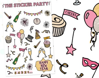 New Year's Eve 2018 Planner Stickers
