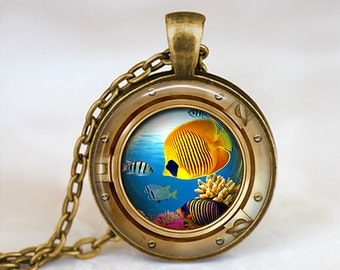 Butterfly fish Eyefish - Handmade Pendant Necklace