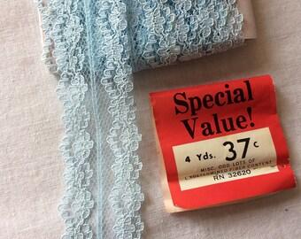 "Vintage Blue Lace Trim 1-3/8"" wide x 4 yards long by Special Value Trims"