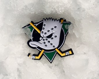 Bart x Mighty Ducks Pin Badge