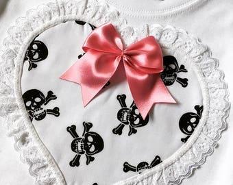 Skeletots baby girl skull & bones t-shirt