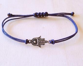 Hamsa Bracelet • Silver Hamsa Bracelet • Boho Bracelet