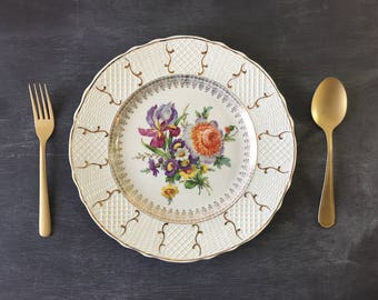 Vintage plates simpson potters porcelain plate china vintage dishes decorative plate porcelain dish vintage wedding dish vintage dinnerware
