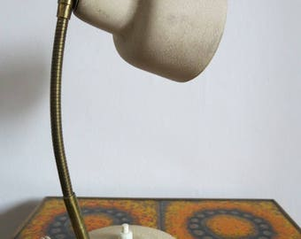 Vintage Mid Century French Modernist Gooseneck Desk Lamp