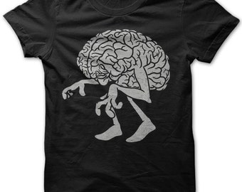 Brain Dead Zombie Funny Emo Goth Mens T Shirt Top New S-xxl