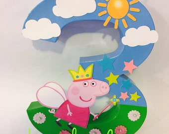 Peppa Pig Party Decor, Paper Mache Letters,  Custom Decor Letters, Peppa Pig Party Decor, Peppa Pig Princess