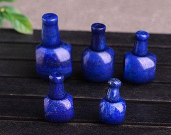 Lapis Lazuli Guru Beads, 14 16 18 20mm Smooth Three Holes Beads Mala Supplies