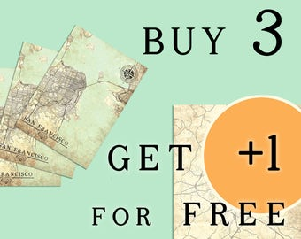 Buy 3 GET 1 for FREE vintage maps extra vintage maps clearance sale map vintage maps vintage maps vintage wall art print poster vintage maps