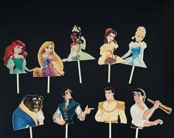 Disney Princess Cup Cake Toppers (12)