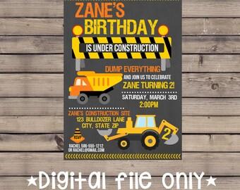 Construction Birthday Invitation / Construction Site Invitation / Construction Invitation / Construction Site Birthday Invitation / Digital