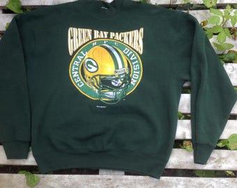 1995 GREEN BAY PACKERS vintage football sweatshirt,sweater,nfl...Xlg