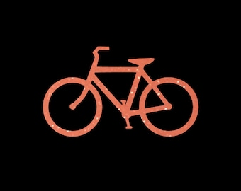 Bicycle Vinyl Decal in your choice of pretty glitter colors!  Perfect for your car windows or almost any smooth surface! Great gift!