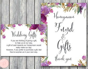 Wedding Gift Dollar Amount 2013 : Honeymoon fund sign Etsy