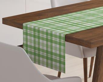 Green Table Runner | Green Décor | Green Table Topper | Green Table Linen | Green Linen | Green Table Décor | Green Runner