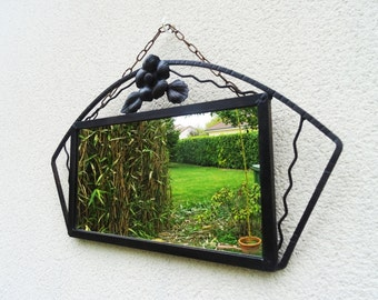 Art Deco wall mirror wrought iron of the 1930s