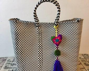 MEXICAN BAG, handwoven tote, market tote, Vegan, Oaxaca, Plastica bag