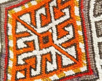 Cr1900-1939sLarge Antique Tribal Camel Bag 5'5''x5'8''Embroidered Panels Turkey