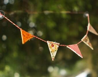 Miniature bunting banner, car decoration, Car Charm, car ornament