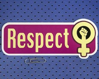 Respect Women Bumper Sticker