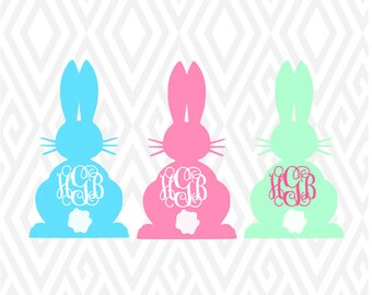 Chubby Bunny  SVG, PNG, DXF, Ai, Eps and Pdf Cutting Files for Electronic Cutting Machines