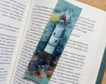 Stephen King's Storm of the Century inspired bookmark / Lighthouse bookmark / Leather bookmark / Ocean bookmark / Fantasy bookmark