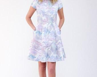 Karri Dress-Megan Nielsen Patterns-Paneled Dress-Flared Skirt-Womans Dress-Dress Pattern-Paper Pattern