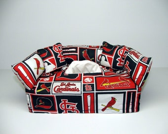 St. Louis Cardinals MLB Licensed fabric tissue box cover.