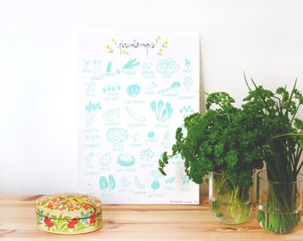 Spring silk screen - poster