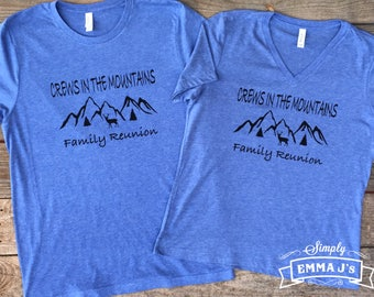 Family Reunion shirt, In the Mountains, Mountains reunion shirt, family, custom t-shirt, women's v-neck