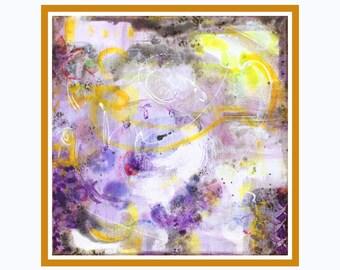 "Art giclée painting, fine art print, modern painting, wall art print, brown yellow, abstract art print, MarilionFineArt, ""BROWNIES I"""
