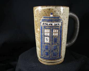 Doctor Who Tardis Mug Handmade #300