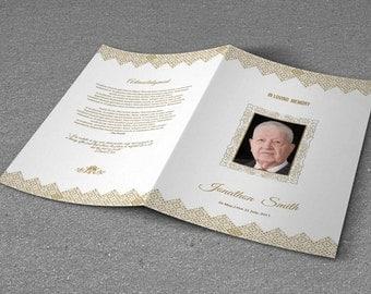 memorial funeral program template obituary program template
