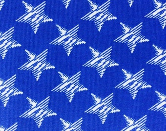 KNIT: Blue Stars Knit Fabric. Sold by the 1/2 Yard